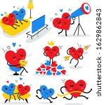 vector romantic set of...   Shutterstock .eps vector #1629862843