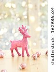 Pink Glittery Deer   Lights An...