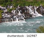 barnafoss waterfall   Shutterstock . vector #162987