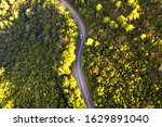 Aerial View Of Country Road In...