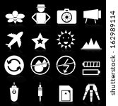 camera icons with reflect on... | Shutterstock .eps vector #162989114