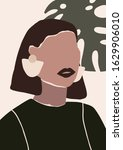 abstract modern young woman... | Shutterstock .eps vector #1629906010