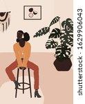 abstract modern african... | Shutterstock .eps vector #1629906043