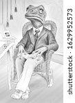 Funny Drawing Of Elegant Man...