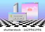 abstract vaporwave aesthetics... | Shutterstock .eps vector #1629961996