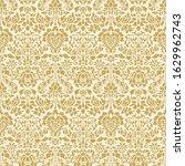 seamless gold ornate damask... | Shutterstock .eps vector #1629962743