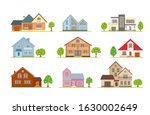set of houses in different... | Shutterstock .eps vector #1630002649