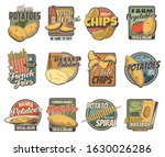 potato products  farm and food... | Shutterstock .eps vector #1630026286