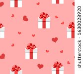 hearts and white gift boxes... | Shutterstock .eps vector #1630028920