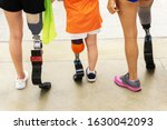 athletes of different ages with ... | Shutterstock . vector #1630042093