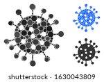 sars virus mosaic of filled... | Shutterstock .eps vector #1630043809