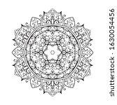 outline mandala for coloring... | Shutterstock .eps vector #1630054456