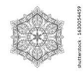 outline mandala for coloring... | Shutterstock .eps vector #1630054459