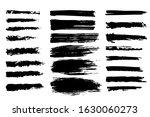 set brush strokes line brush... | Shutterstock .eps vector #1630060273