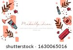 abstract face banner  beauty... | Shutterstock .eps vector #1630065016