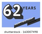 60,60th,62,62nd,anniversary,banner,birth,birthday,card,celebrate,celebration,decoration,design,flat,frame