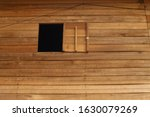 Wooden Window And Wooden Wall...