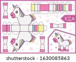 cut and glue the paper a cute... | Shutterstock .eps vector #1630085863