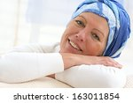 portrait of a nice middle aged... | Shutterstock . vector #163011854