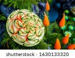 Carving Fruit Vegetable Concept ...