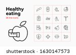 healthy eating icon set. set of ...   Shutterstock .eps vector #1630147573