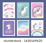 set of birthday greeting cards... | Shutterstock .eps vector #1630169620