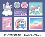 set of birthday gift tags ... | Shutterstock .eps vector #1630169623