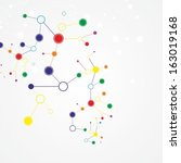 molecule and communication... | Shutterstock .eps vector #163019168