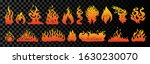 set of flame and fire in... | Shutterstock .eps vector #1630230070