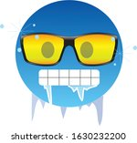 cold emoticon wearing yellow... | Shutterstock .eps vector #1630232200