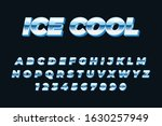 ice cool text style effect... | Shutterstock .eps vector #1630257949