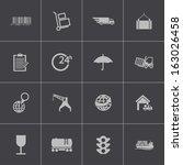 vector black  logistic icons set   Shutterstock .eps vector #163026458