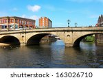 Bridge And River Ouse  In York...