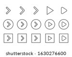 icon set of play button....