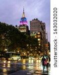 new york city  ny   october 8 ... | Shutterstock . vector #163032020