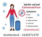 covid 19. coronavirus symptoms. ... | Shutterstock .eps vector #1630371370