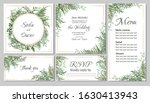 vector template for wedding... | Shutterstock .eps vector #1630413943