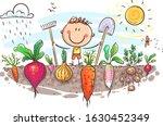 Happy Farmer Has Grown A Lot O...