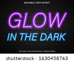 glow  text effect template with ... | Shutterstock .eps vector #1630458763