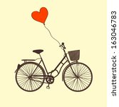vector illustration with bike... | Shutterstock .eps vector #163046783