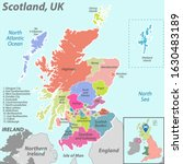 vector map of scotland with... | Shutterstock .eps vector #1630483189