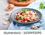 Boiled Shrimps Or Prawns And...