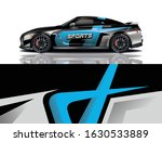 sports car wrapping decal design   Shutterstock .eps vector #1630533889