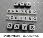 one hundred working days  word... | Shutterstock . vector #1630534933