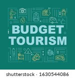 budget tourism word concepts...
