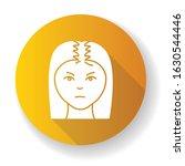 female hair yellow flat design... | Shutterstock .eps vector #1630544446