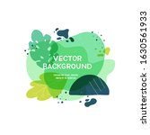liquid blobs layout with hand...   Shutterstock .eps vector #1630561933