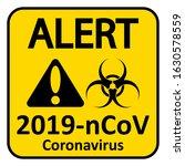 coronavirus danger sign on... | Shutterstock .eps vector #1630578559