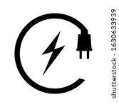 electric plug icon isolated on...