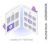 usability testing flat vector...